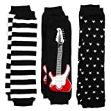 Baby Leg Warmers Set of 3 - Axel's Rockstar Guitar, Stars, Striped