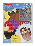 Melissa & Doug Simply Crafty Adventure Hats Craft Kit: Pirate, Viking, Jester, and King