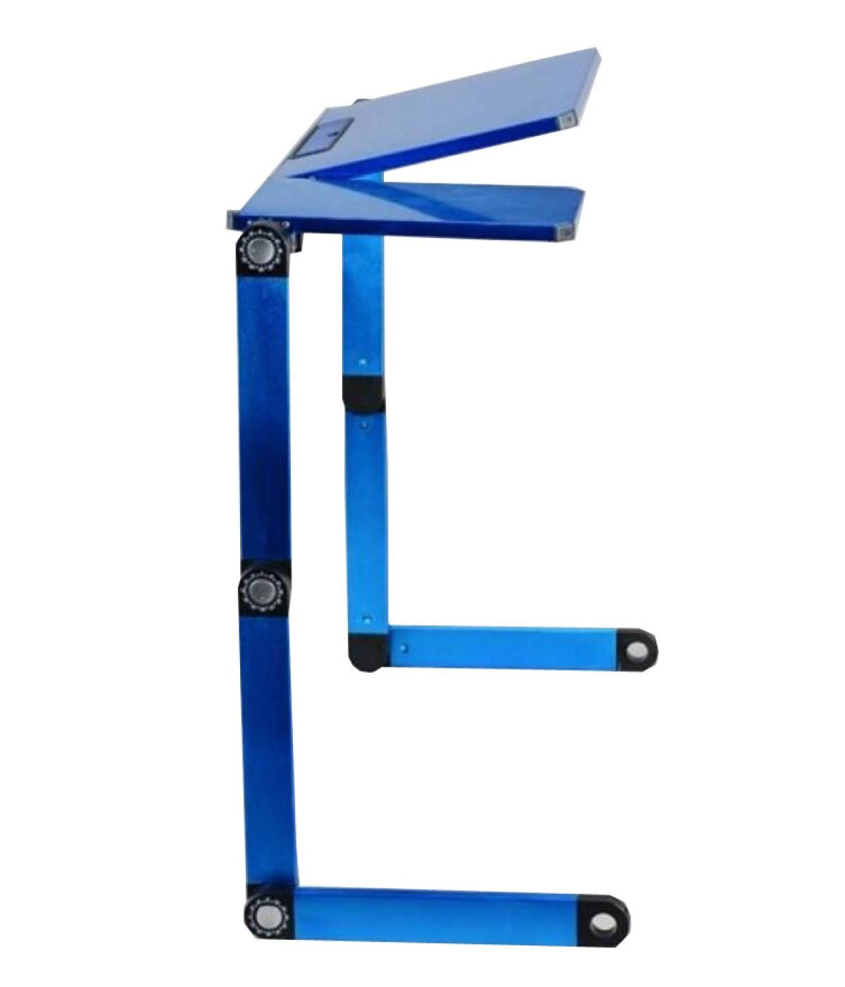 Laptop Table Aluminum Computer Table Bed Computer Table Folding Table Work Playing Game Folding Camping Table,Blue-OneSize