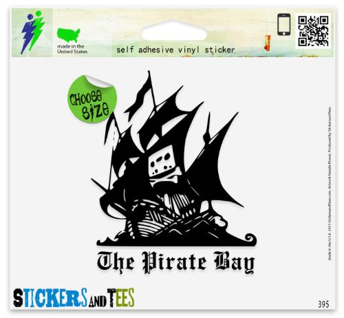 Pirate Bay Vinyl Car Bumper Window Sticker 3