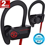 Image of Bluetooth Headphones ZEUS OUTDOOR (Improved model 2017) Wireless Earbuds HD Stereo Waterproof IPX7 Sweatproof Sports Headphones with Mic Best Wireless Headphones for Running Sport Workout Headphones