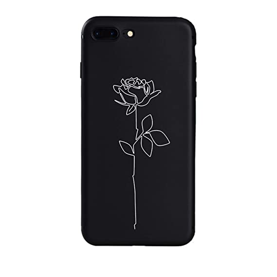 Amazon.com: Line Hand Rose Girl Body Soft Silicon case for ...