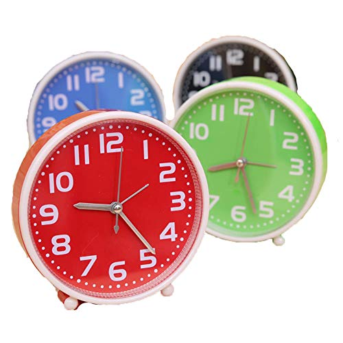 Candy Color Needle Alarm Clock Home Portable Cute Mini Cartoon Dial Number Round Desk For Kids Children Gift Clock