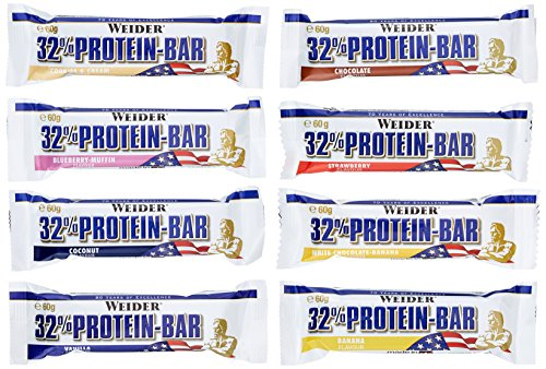Weider 32% Protein Bar, Mix Pack, 1er Pack (24 x 60 g)