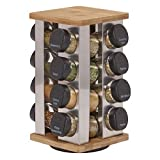Kamenstein Warner 16-Jar Revolving Spice Rack with Free Spice Refills for 5 Years by Kamenstein
