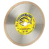Piranha 7-inch (7') Continuous Rim Wet/Dry Diamond Blade for Cutting Ceramic Tile, Porcelain Tile, Stone & Similar Materials
