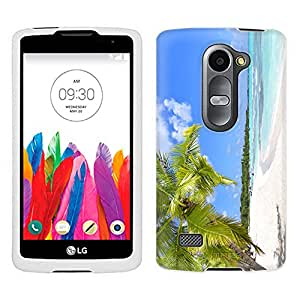 LG Leon Case, Snap On Cover by Trek Swaying Palms on the Beach Case