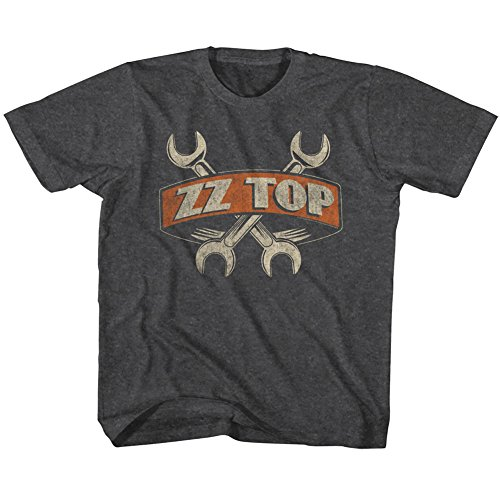 ZZ Top Rock Band Music Group Crossed Wrenches Toddler Little Boys T-Shirt Tee
