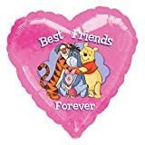 Anagram Winnie The Pooh Best Friends Forever Foil Balloon (One Size) (Pink)