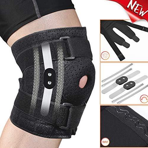 Kniebandage, verstellbar, für Männer und Frauen, offene Patella-Stabilisator, Kniebandage für Knie, Arthritis, Gelenkschmerzen, Sport, Laufen, Schutz