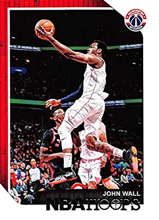 2018-19 NBA Hoops Basketball  19 John Wall Washington Wizards Official  Trading Card made 4e30941d5
