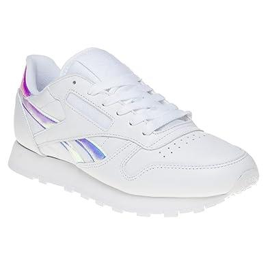 Reebok Classic Leather Iridescent Damen Sneaker Weiß: Amazon