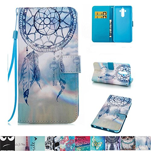 Price comparison product image Huawei Mate 9 Case, Firefish Slim PU Leather Wallet Dual Layer [Card Slots] Kickstand Magnetic Clip Non-Slip Bumper Shell Perfect Fit for Huawei Mate 9 -Dreamnet