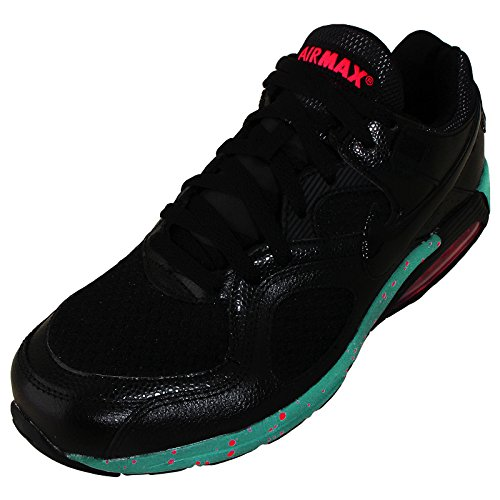 Nike Men's Air Max Go Strong, BLACK/BLACK-SPORT TURQ-ATOMIC RED, 10 M US