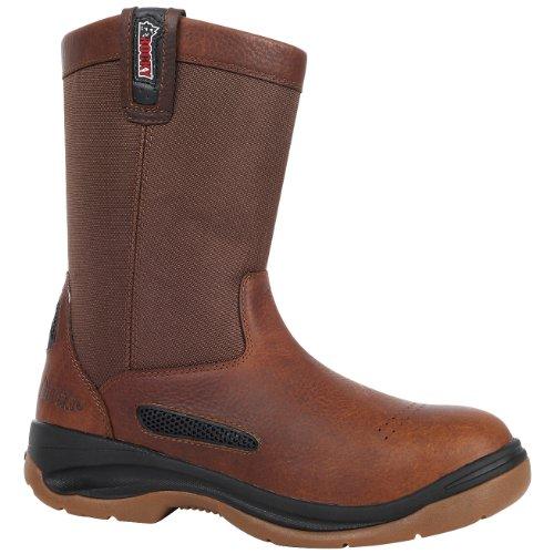 Rocky Mens Wellington (Rocky Men's Pull On Wellington Boots,Brown,11 M)
