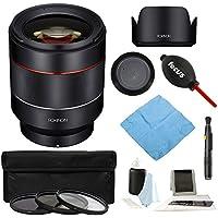 Rokinon AF 50mm F1.4 Auto Focus Lens (Sony E-Mount) Full Frame Bundle