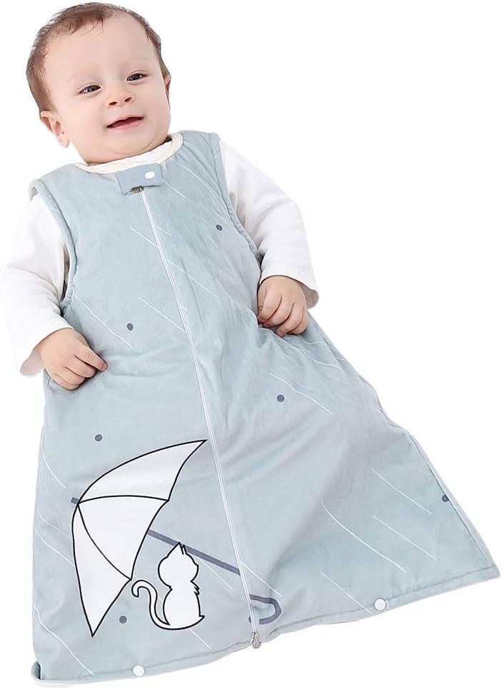 Amazon Com Idgirl Infant Sleep Bag Fleece Wearable Blanket Sleeveless 6 12 Months Soft Warm Grey Cat Home Kitchen