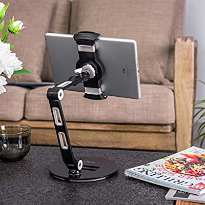 SAALS Tablet Stand for Most Tablets and Smart Phones for Office Home Office Kitchen and Living Room
