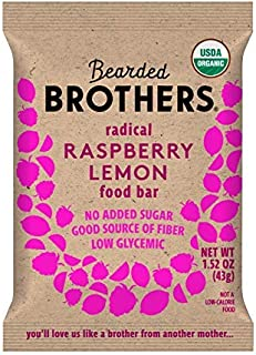 product image for Bearded Brothers Vegan Organic Energy Bar | Gluten Free, Paleo and Whole 30 | Soy Free, Non GMO, Low Glycemic, Packed with Protein, Fiber + Whole Foods | Raspberry Lemon | 5 Pack