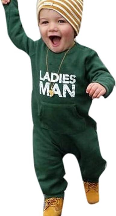 Infant Kids Baby Toddler Letter Soft Boy Cotton Romper Jumpsuit Outfits Clothes