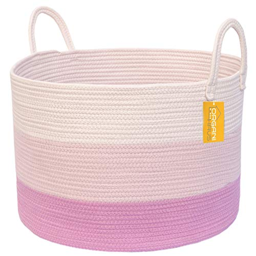 OrganiHaus XXL Extra Large Cotton Rope Basket | 20
