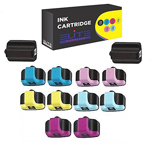 12 Pack Elite Supplies ® Compatible Inkjet Cartridge Replacement for