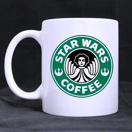 Regalo divertido Princesa Leia Taza de café Taza de té Material de cerámica Tazas Blanco 11oz
