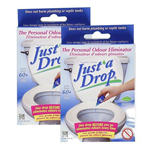 - Just A Drop - Natural Toilet Odor Eliminator - Eucalyptus - 15 mL - 2 count