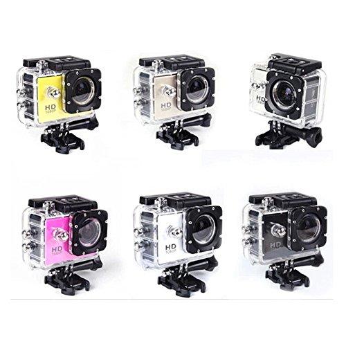 GOLDFOX SJ4000 Profi Sport Kamera DVR Camcorder 1.5' Bildschirm 12MP Full HD 1080P 2/3 CMOS Aktion Sport Kamera Unterwasser 30M Antishake Originale Helmkamera (Schwarz)