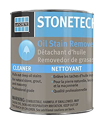 StoneTech Oil Stain Remover, Cleaner for Natural Stone, Grout, & Masonry, 3-Ounces (.089L) from DuPont
