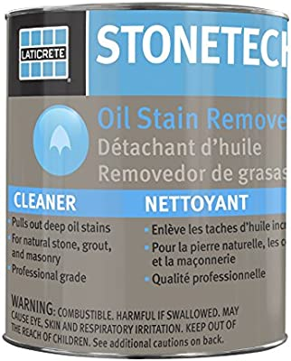 StoneTech Oil Stain Remover, Cleaner for Natural Stone, Grout, Masonry, 3-Ounces (.089L)