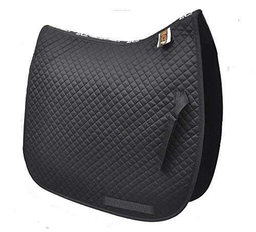 (ECP Cotton Quilted Dressage Pad (Black))