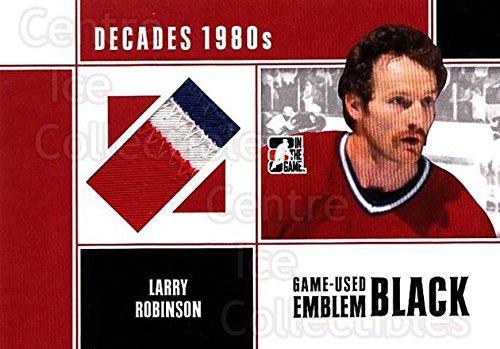 (CI) Larry Robinson Hockey Card 2010-11 ITG Decades 1980s Emblem Black 39 Larry Robinson