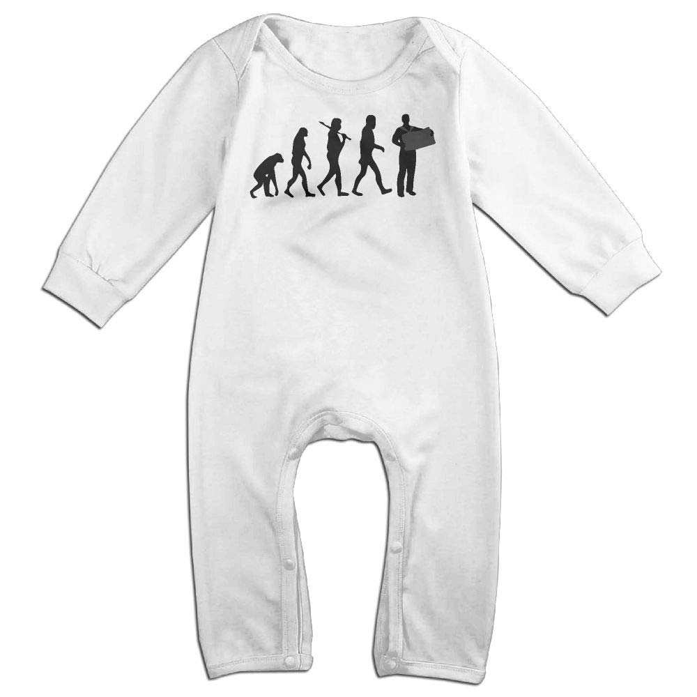 UGFGF-S3 Accordion Player Evolution Long Sleeve Newborn Baby Romper Jumpsuit Onsies for 6-24 Months Bodysuit