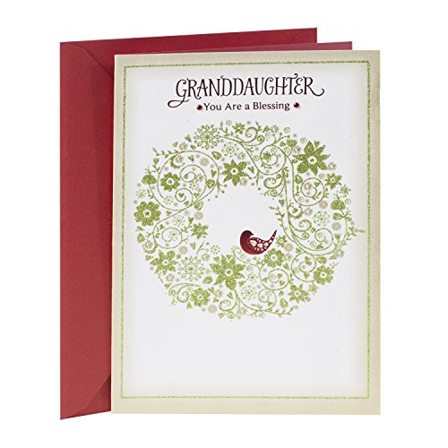 Hallmark Christmas Greeting Card to Granddaughter  (from Grandpa or from - Christmas Good Messages Card