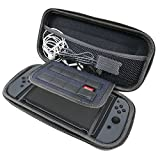 Qorol Nintendo Switch Hard Carry Case with 8 Game Cartridge Holders - Black