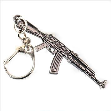 Mddrr Juego IR Arma Modelo Cuero Trenzado Llavero Pubg Arma ...