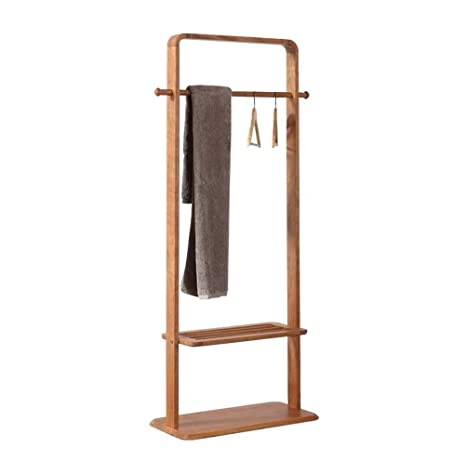 Amazon.com: WYQSZ Solid Wood Coat Rack Bedroom Floor Storage ...