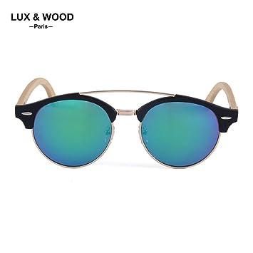 LUX & WOOD Paris Diseño Vintage – Gafas de Sol polarizadas – Collection 2018 – Hombre – Mujer – Vasos policarbonato UV 400 – Montura combinée ...
