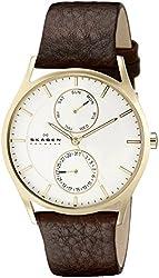 Skagen Men's SKW6066 Holst Stainless Steel Watch with Dark Brown Strap