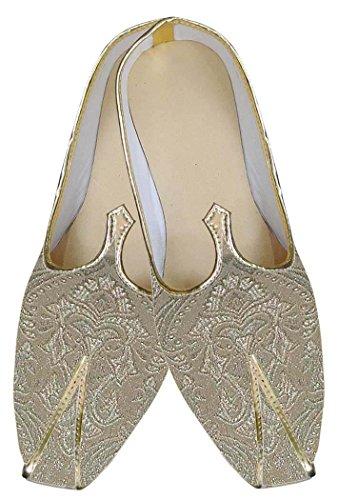 INMONARCH Herren Golden Erstaunliche Indische Hochzeit Schuhe MJ0145