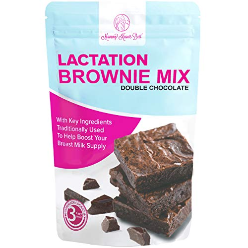 Lactation Brownie Mix Breastfeeding Supplement - Double Chocolate Breast Milk Support Snack Alternative to Lactation Cookies to Boost Breastmilk Supply Increase - 16 Ounces