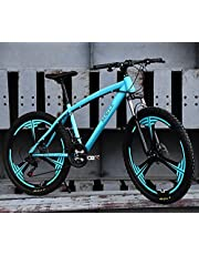 فرامل قرصية للبالغين من الجنسين من MACCE ، دراجة جبلية 21 سرعة ، ثلاث عجلات 26 بوصة ، باللون الأزرق ، مقاس L