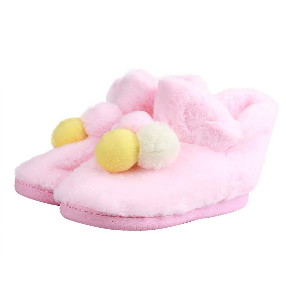 LandFox Shoes Pregnant Women Shoes,Womens Home Three-Color Balls Winter Autumn Warm Shoes Pink