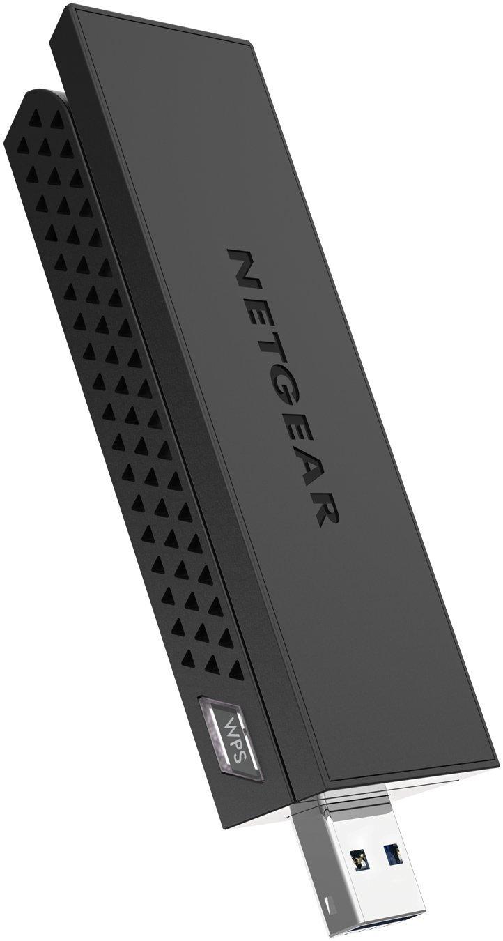 NETGEAR AC1200 Wi-Fi USB Adapter High Gain Dual Band USB 3.0 (A6210-100PAS) (Renewed) by NETGEAR