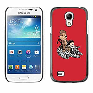 Shell-Star ( Cool Funny Cute Monkey Space Ship ) Fundas Cover Cubre Hard Case Cover para Samsung Galaxy S4 MINI / i9190 / i9192
