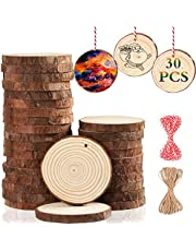 Artmag Unfinished Natural Wood Slices for Christmas Decor