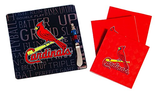 (Team Sports America St Louis Cardinals Tailgating Napkin, Spreader and Surface Saver Party Set)