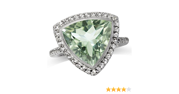 Natural Green Amethyst Ring,Gemstone Ring,925 Sterling Silver Ring,Solitaire Ring,Dainty Ring,Tiny Ring,Silver Ring,Adjustable Ring,BG-1