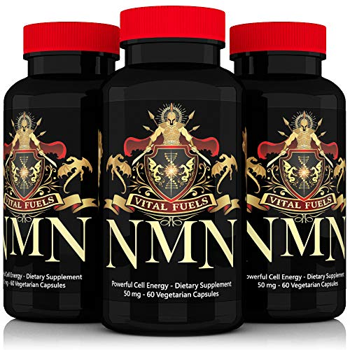 NMN 50mg Serving Nicotinamide Mononucleotide More Stable Than Riboside This Direct NAD+ Supplement Works Best When Paired with Resveratrol Niacin and Folic Acid [2X 25mg Capsules 60ct].